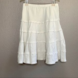 Soft Surroundings Skirt Linen Tiered Knee Length